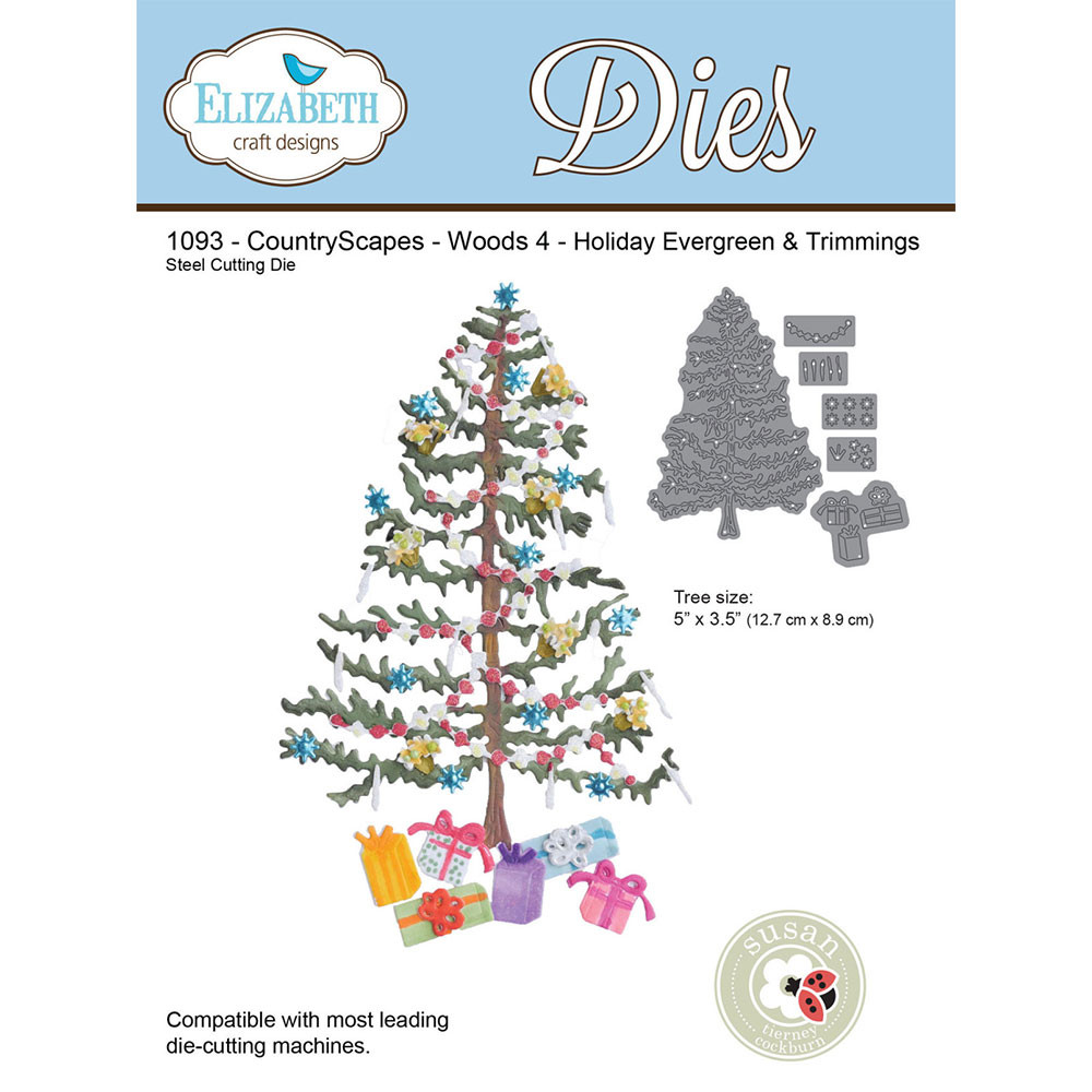 Elizabeth Craft Designs CountryScapes - Woods 4 - Holiday Evergreen & Trimmings