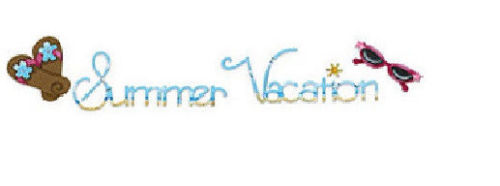 Sizzix Sizzlits Decorative Strip Die - Phrase, Summer Vacation