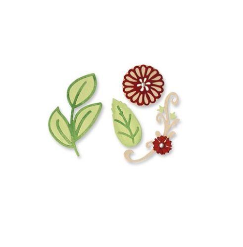 Sizzix Sizzlits Die Set 3PK - Floral Botanical Set