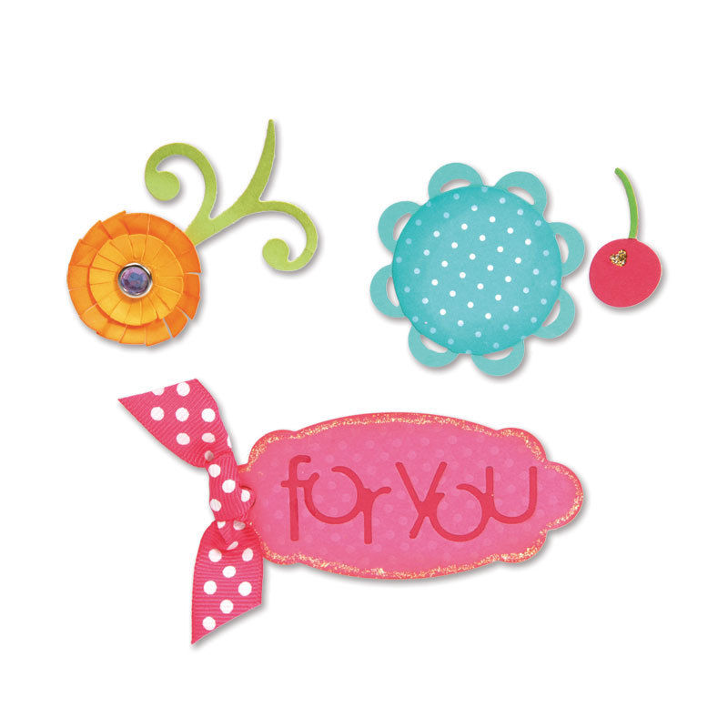 Sizzix Sizzlits Die Set 3PK - Sweet Treats for You Set