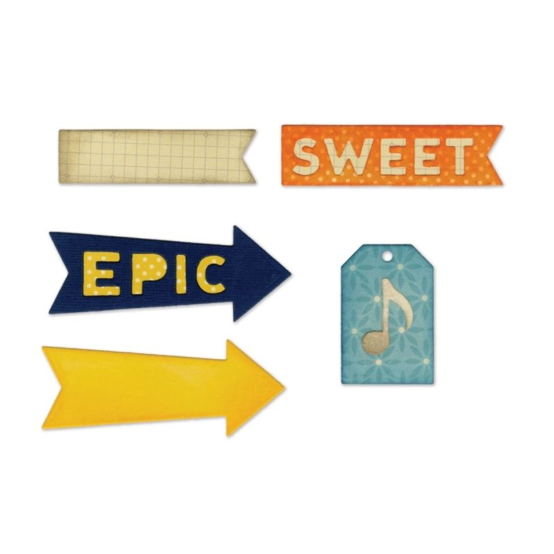 Sizzix Thinlits Die Set 6PK - Epic & Sweet