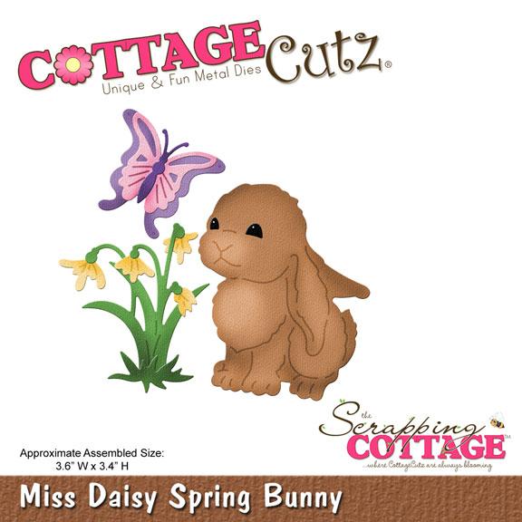 CottageCutz Miss Daisy Spring Bunny (4x4) Metal Die