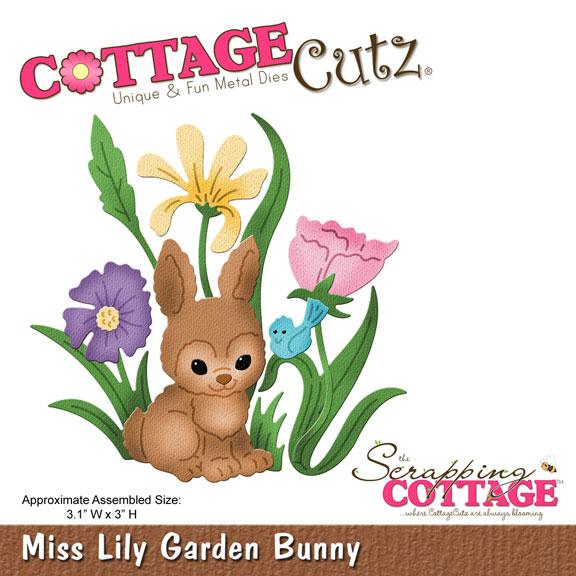 CottageCutz MISS LILY GARDEN BUNNY (4x4) Metal Die