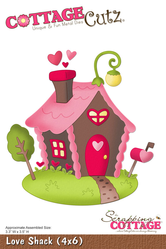 CottageCutz LOVE SHACK (4x6) Metal Die
