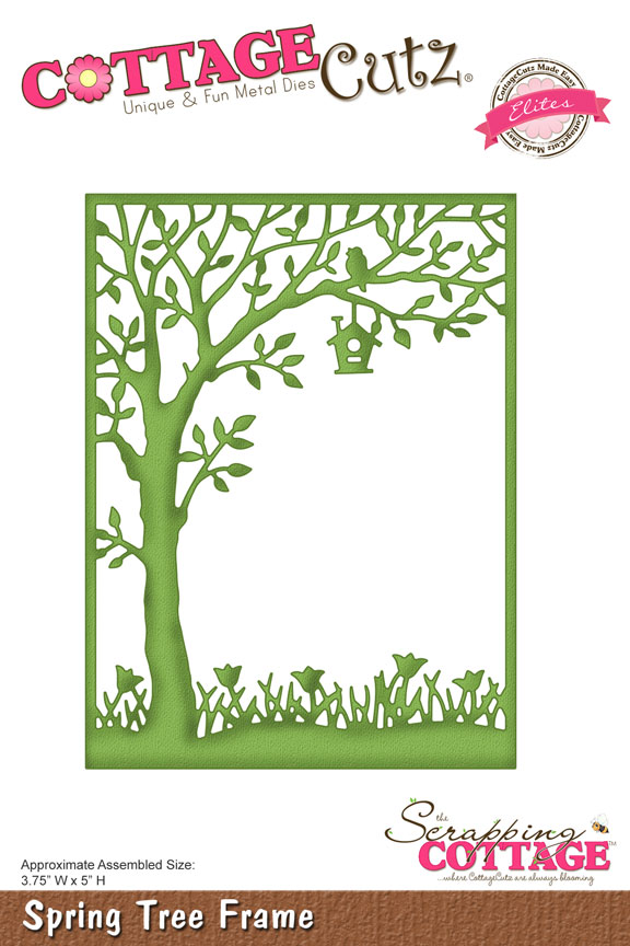 CottageCutz SPRING TREE FRAME Elites Metal Die