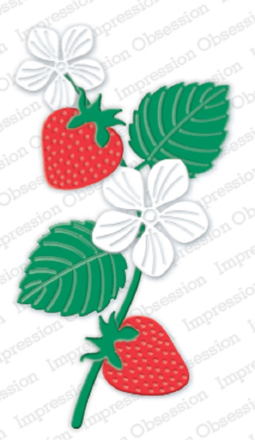 Impression Obsession STRAWBERRY SET DIES DIE401-Y