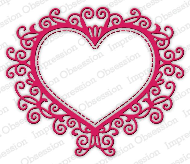 Impression Obsession Flourish Heart Die DIE635-Z