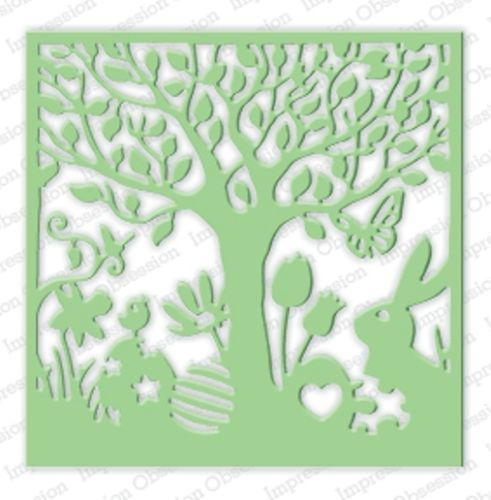 Impression Obsession EASTER CUTOUT SQUARE DIE DIE264-ZZ