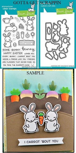 Lawn Fawn SOME BUNNY Clear Stamps & Lawn Cuts Die Set LF1587 LF1588